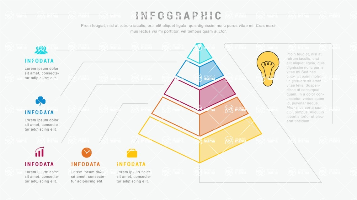 Ultimate Infographic Template Collection - Mega Bundle Part 2 - 5 Steps Pyramid Infographic Template