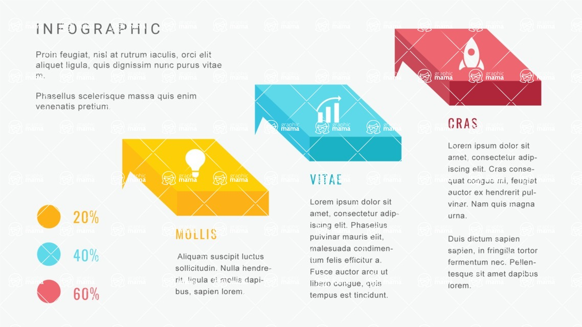 Ultimate Infographic Template Collection - Mega Bundle Part 2 - Isometric Infographic Template with 3 Steps