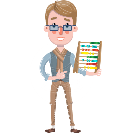 Flat Male Teacher Cartoon Vector Character