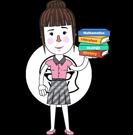 Linear Style Female Teacher Vector Character