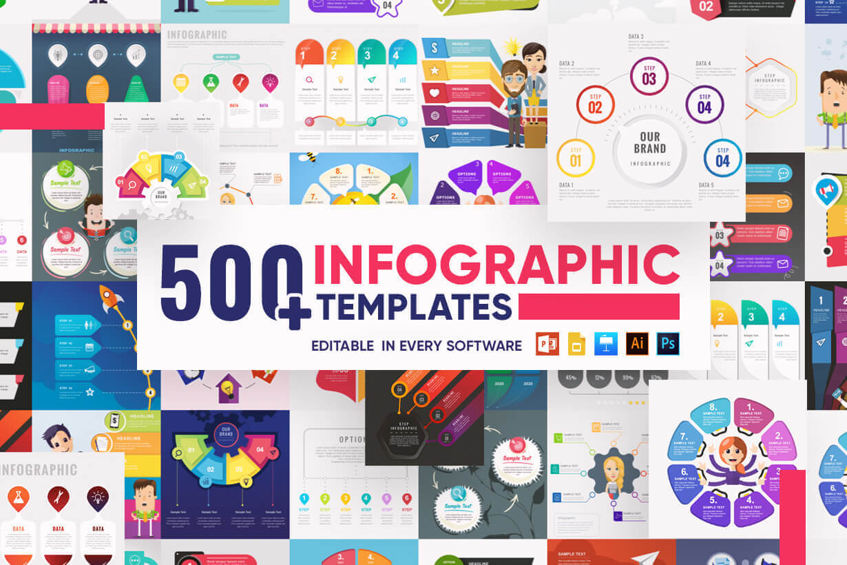 Infographic Templates Collection - Vector, Photoshop, PowerPoint, Google Slides