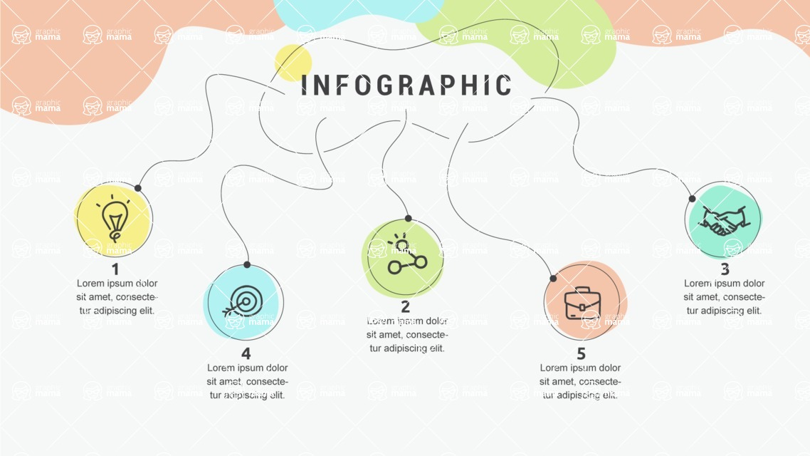 Infographic Templates Collection - Vector, Photoshop, PowerPoint, Google Slides - Hand Drawn Style Infographic Template - 5 Options