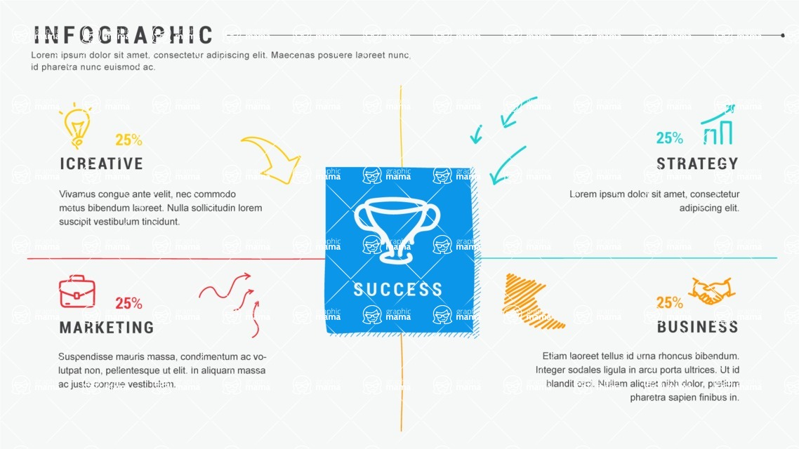 Infographic Templates Collection - Vector, Photoshop, PowerPoint, Google Slides - Success Infographic Template