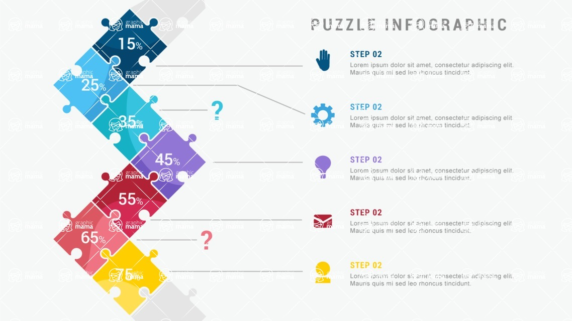 Infographic Templates Collection - Vector, Photoshop, PowerPoint, Google Slides - 7 Puzzle Pieces Infographic Template