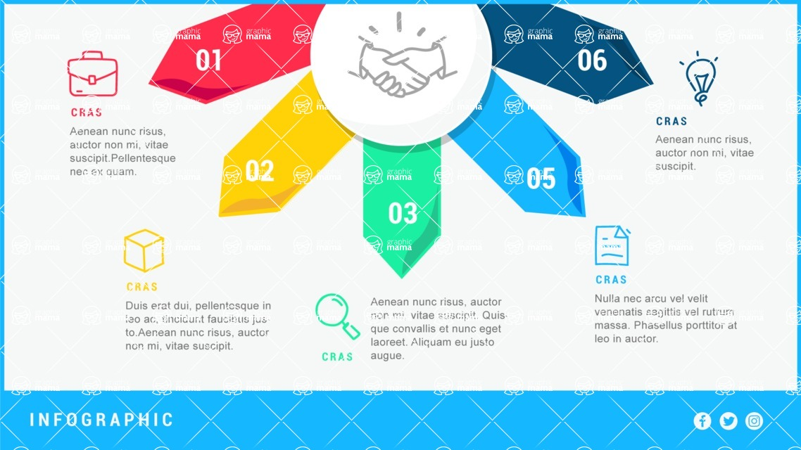 Infographic Templates Collection - Vector, Photoshop, PowerPoint, Google Slides - 5 Step Arrows Infographic Template