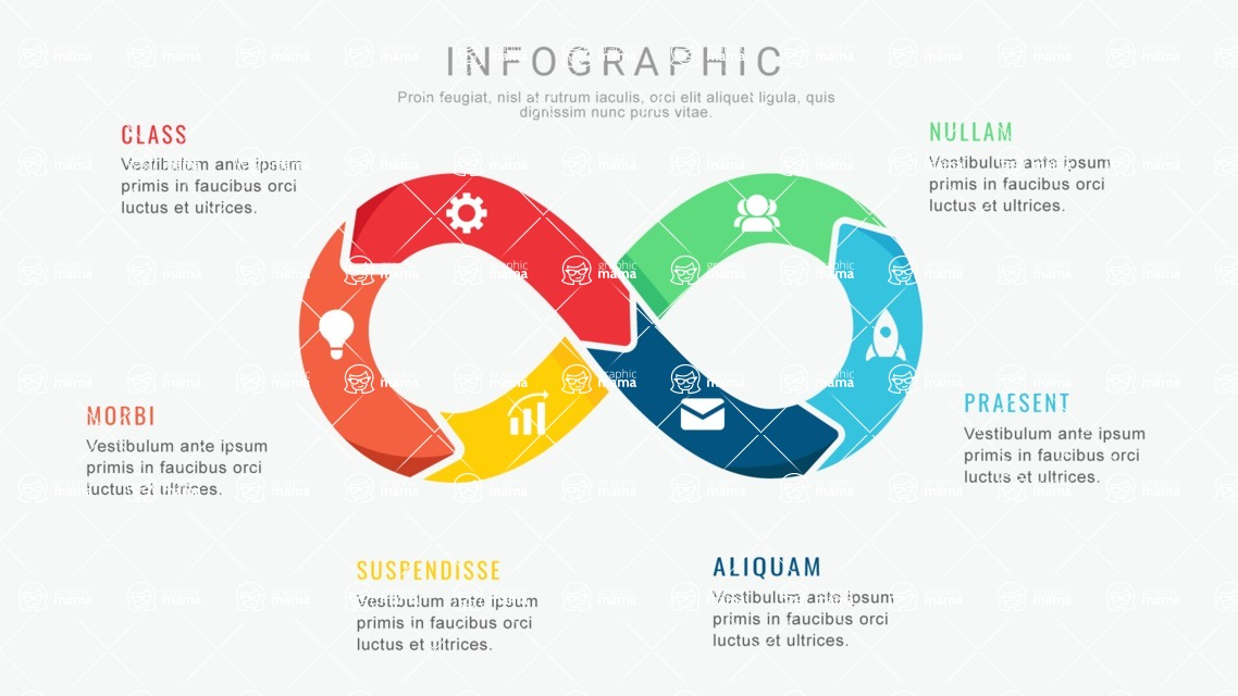 Infographic Templates Collection - Vector, Photoshop, PowerPoint, Google Slides - Infinity Infographic Template