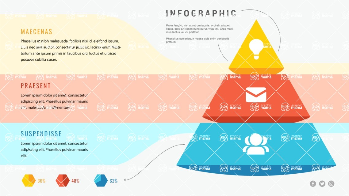 Infographic Templates Collection - Vector, Photoshop, PowerPoint, Google Slides - 3 Steps Pyramid Infographic Template