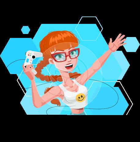 Modern Style Teenage Girl Cartoon Character
