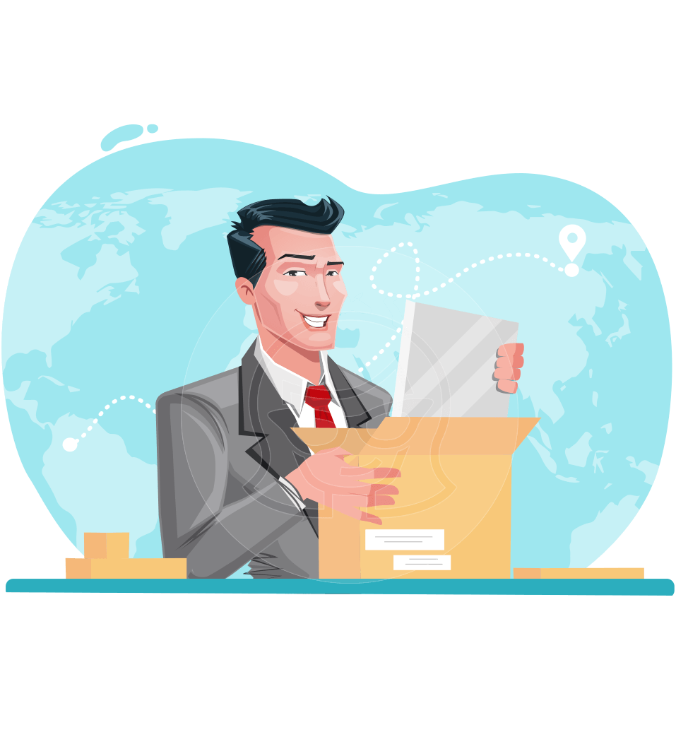 Modern Flat Style Businessman Cartoon Character