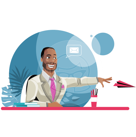Modern Style African-American Man Vector Character