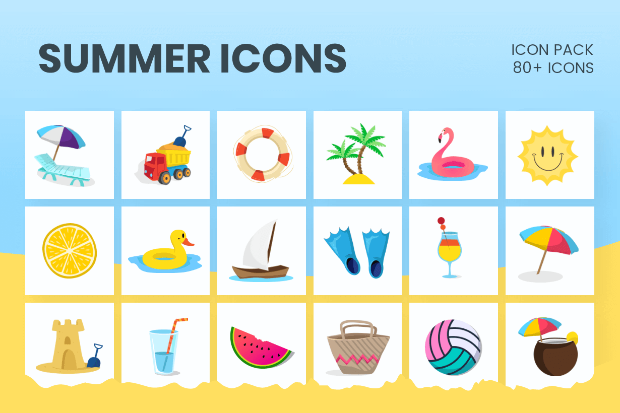 Summer Icons Bundle
