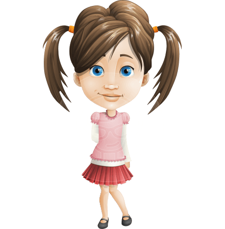 Elementary School Student Girl Adobe Character Animator Puppet