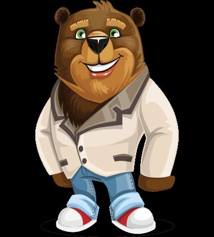 Bear Cartoon Character Set