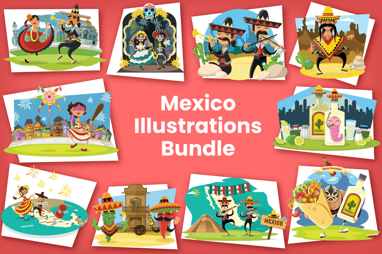Mexico Illustrations Bundle