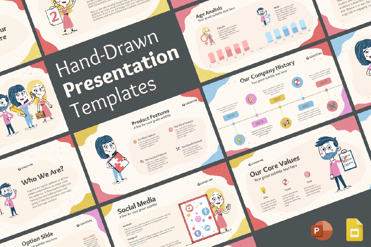 Hand-Drawn Presentation Template for PowerPoint and Google Slides