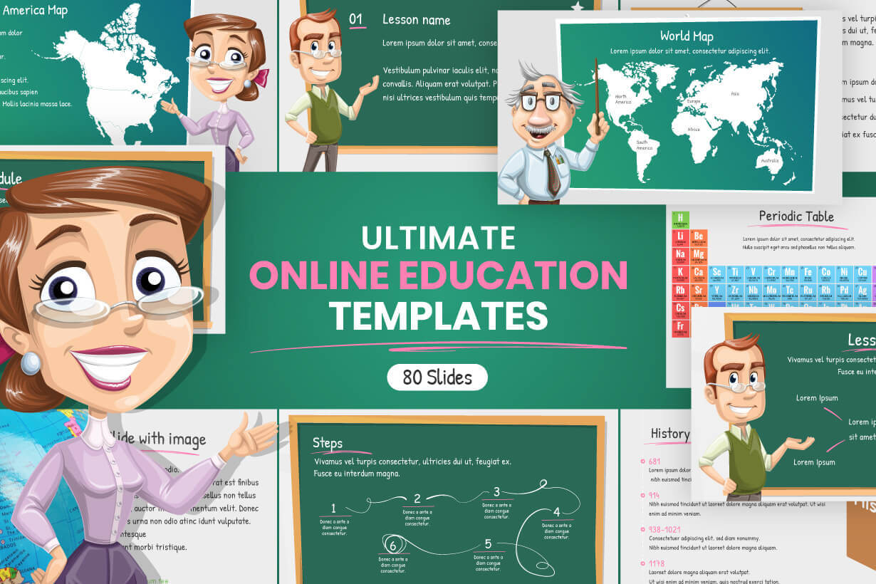 Ultimate Online Education Presentation Templates